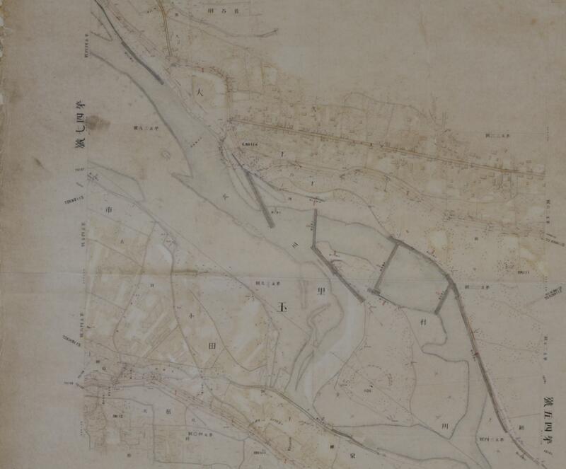 埼玉県管内荒川平面図